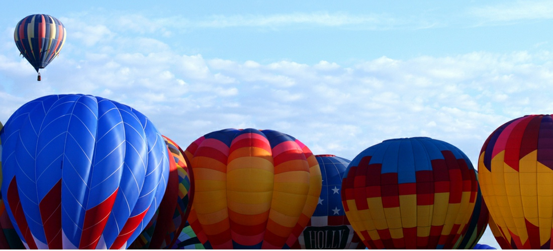 The internationally renowned Albuquerque International Balloon Fiesta is an annual event featuring hot air balloons in Albuquerque, New Mexico. The Balloon Fiesta is a nine day event, and has around 750 balloons