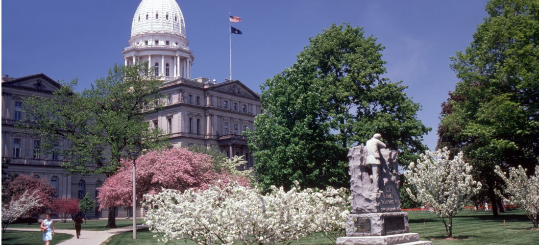 State of Michigan Capitol Building in Lansing Michigan