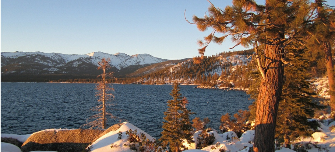 Lake Tahoe as winter rolls in to Nevada