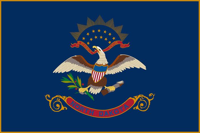 North Dakota State Facts, Travel Information, USA Travel ... Famous American Flag Art