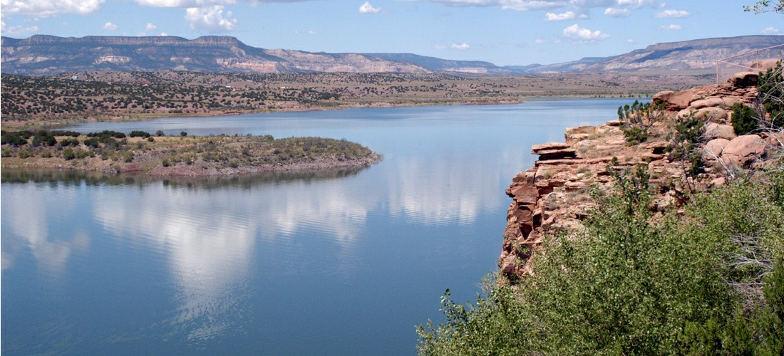 The beautiful Abiuiu Lake in New Mexico