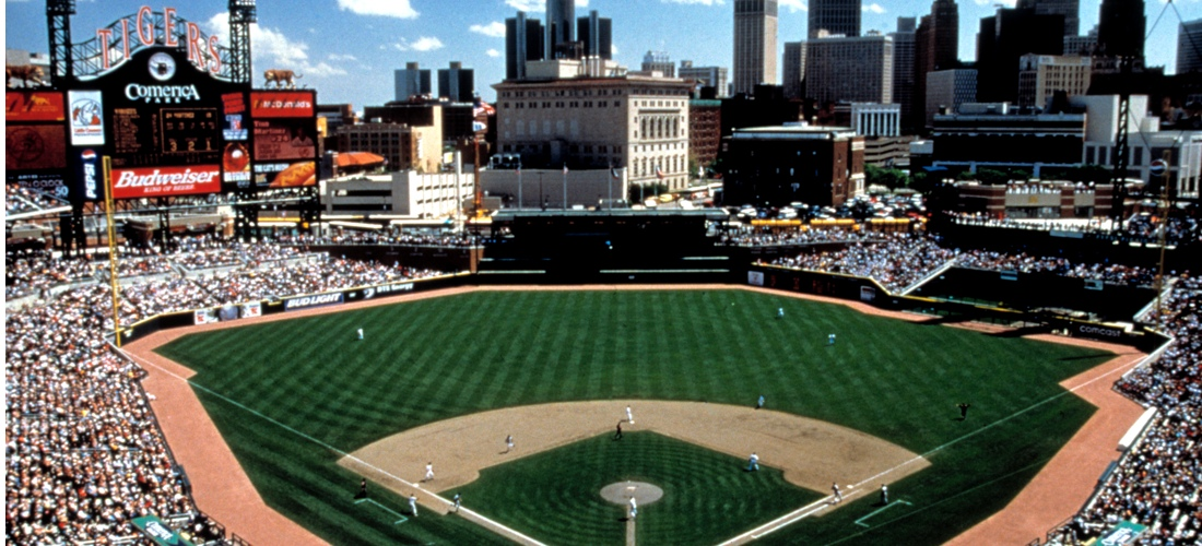 Baseball at Comerica Park