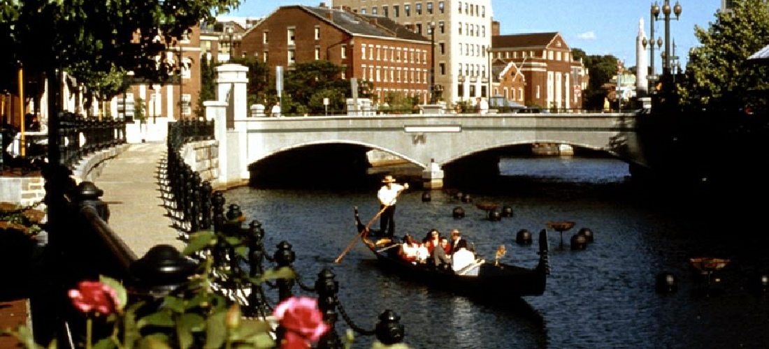 Gondola rides can take you through the heart of Providence, Rhode Island.