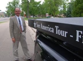 Super Eagle Tour Bus of the See America Tour