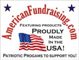 The only patriotic fund raising program in America featuring Products Proudly Made in the USA.