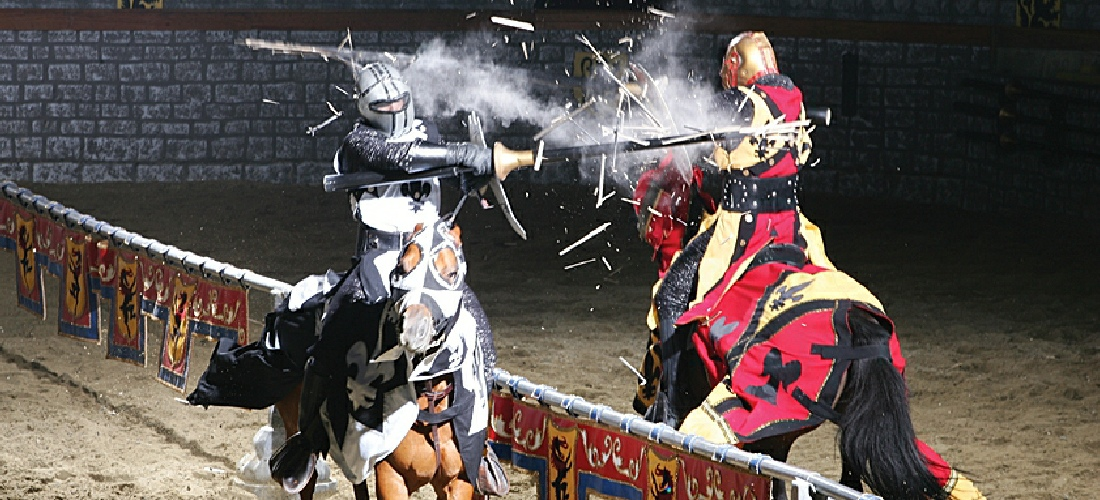 Medieval Times allows you to step back in time with epic battles, jousting tournaments, royal feasts, knights and romance at the South Carolina- American castles.