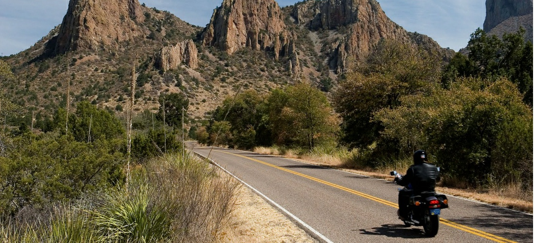 Take a motorcycle adventure to the Guadalupe Mountains of Texas for a unique view of this expansive state.