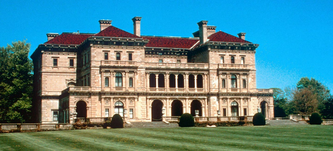 The Breakers is a Vanderbilt mansion located on Ochre Point Avenue, Newport, Rhode Island, United States on the Atlantic Ocean.