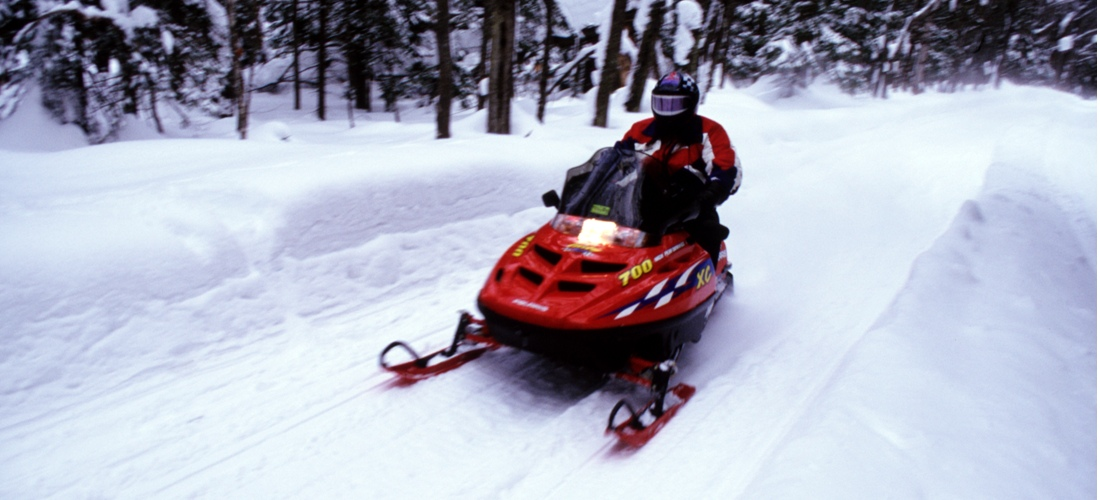 Snowmobiling Michigan.