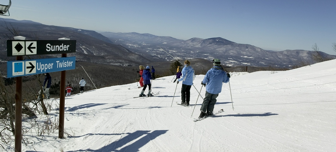 Vermont skiing: Discover Vermont's beautiful cities, towns and beautiful landscapes.  Vermont is also called the green state due to its lush forests and rolling hills.  See America - See Vermont!