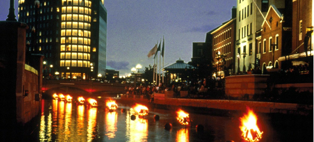 Waterfire is a special event held over several weekends to support the Arts in Providence.