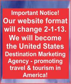 The America the beautiful website's format will change to the United States Destination Marketing Agency in February 2103