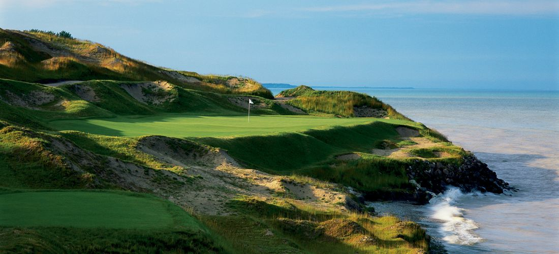 Whistling Straits Golf Course - Hole 7 - Discover Wisconsin's beautiful cities, towns and beautiful landscapes.  Wisconsin is for adventure!  From its lush forests and rolling hills to magnificent beaches - Wisconsin is a Vacation and Adventure Destination you will enjoy.  See America - See Wisconsin -a USA Travel Guide Destination!