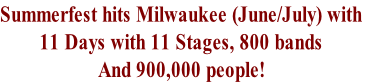 Summerfest hits Milwaukee (June/July) with