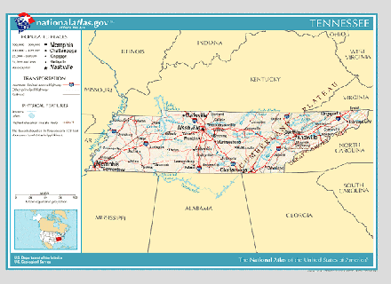State Parks Tennessee Map.Tennessee State Facts Travel Information Usa Travel Guides State