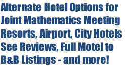 Alternate Hotel Options for