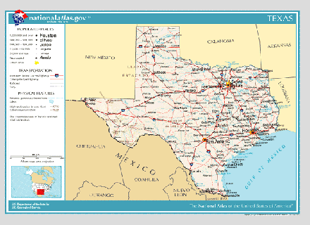 Texas State Map Pdf